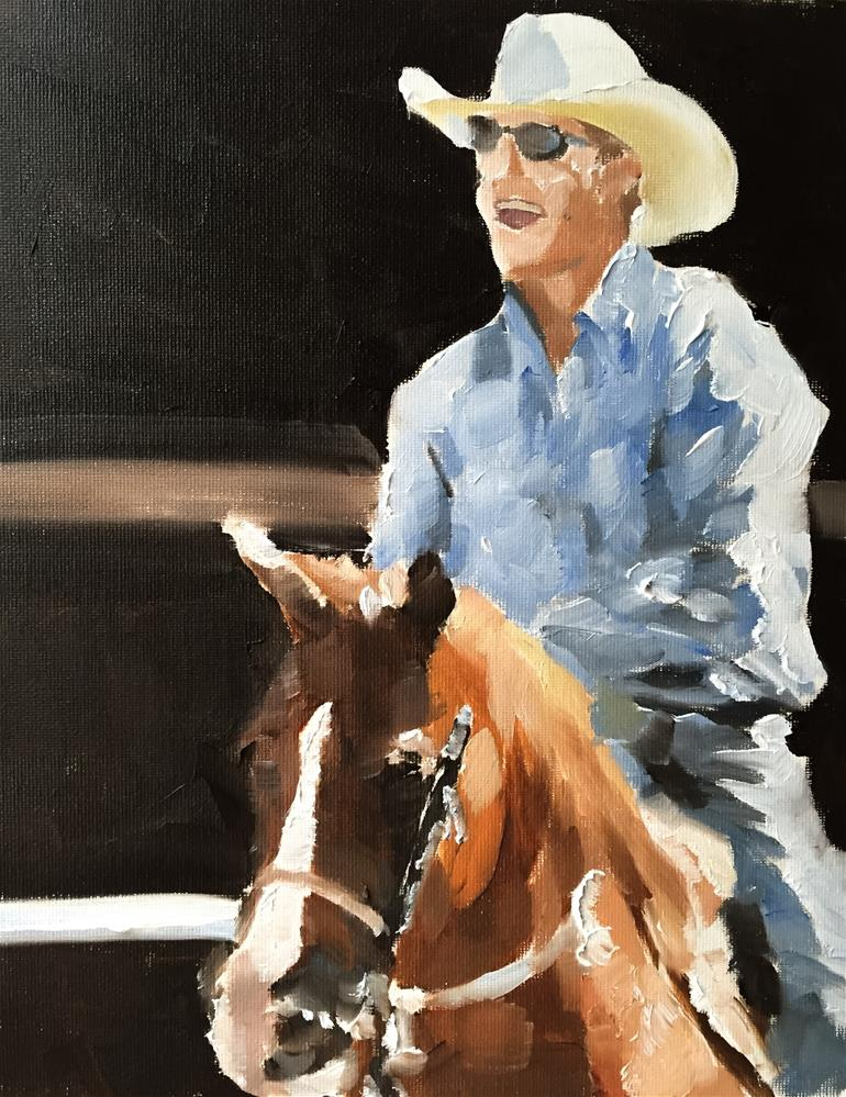 """Cow Boy"" original fine art by James Coates"