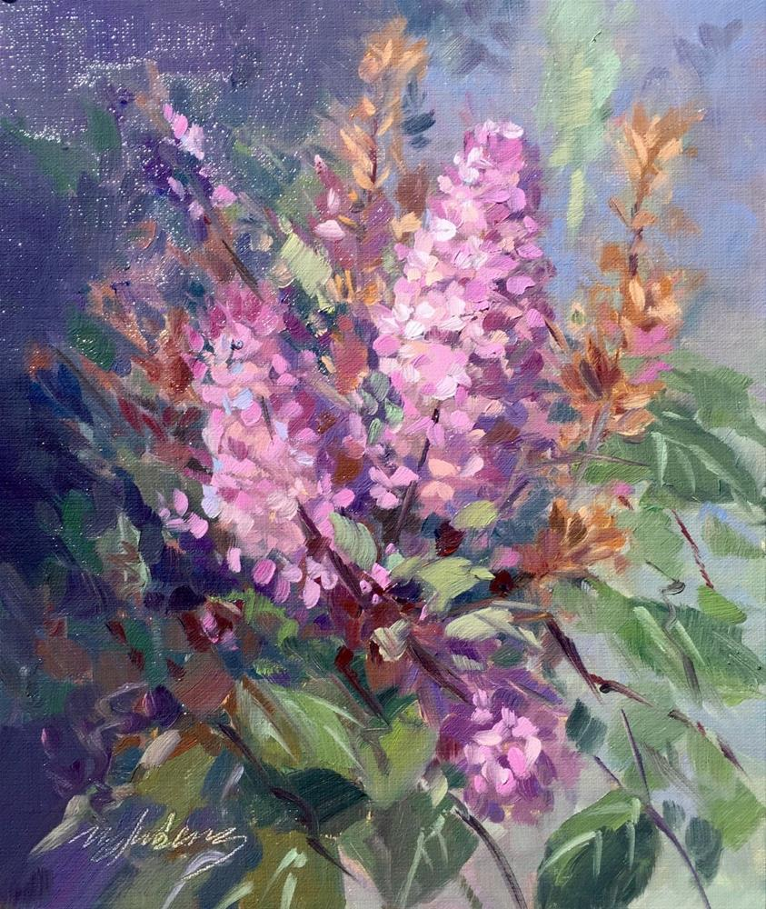 """Lilac Senses"" original fine art by Mary Jabens"