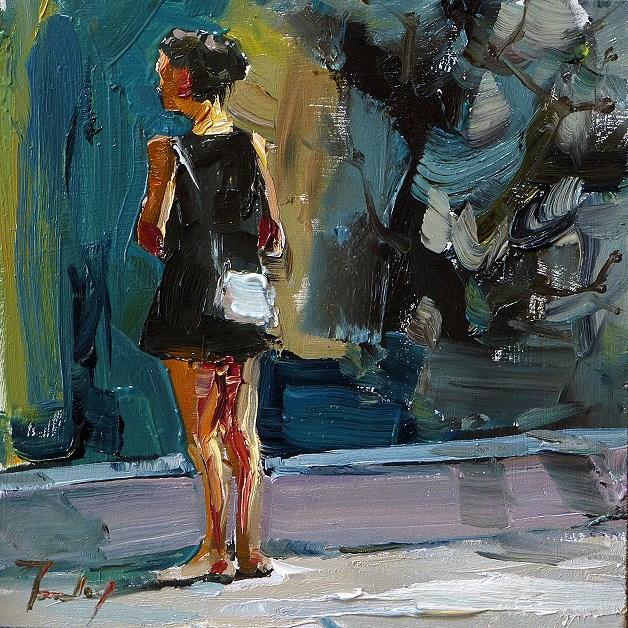 """""""pending"""" original fine art by Jurij Frey"""