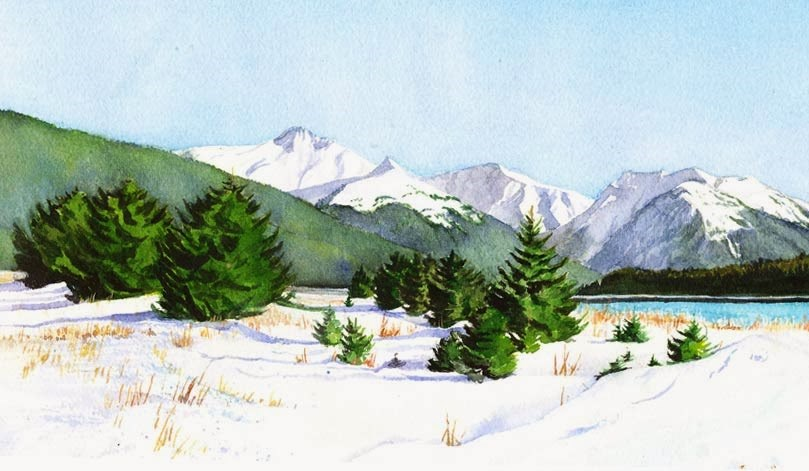 """Sunny Day in March 2014"" original fine art by Carole Baker"