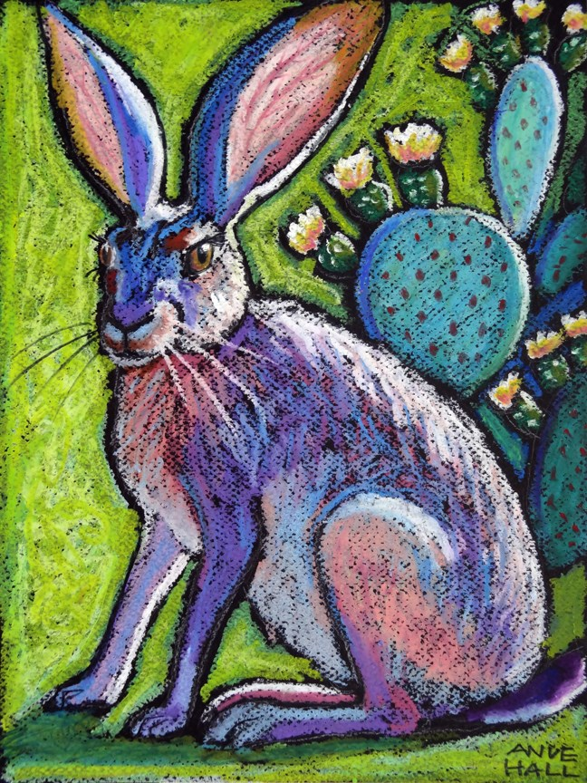 """Blooming Jackrabbit"" original fine art by Ande Hall"