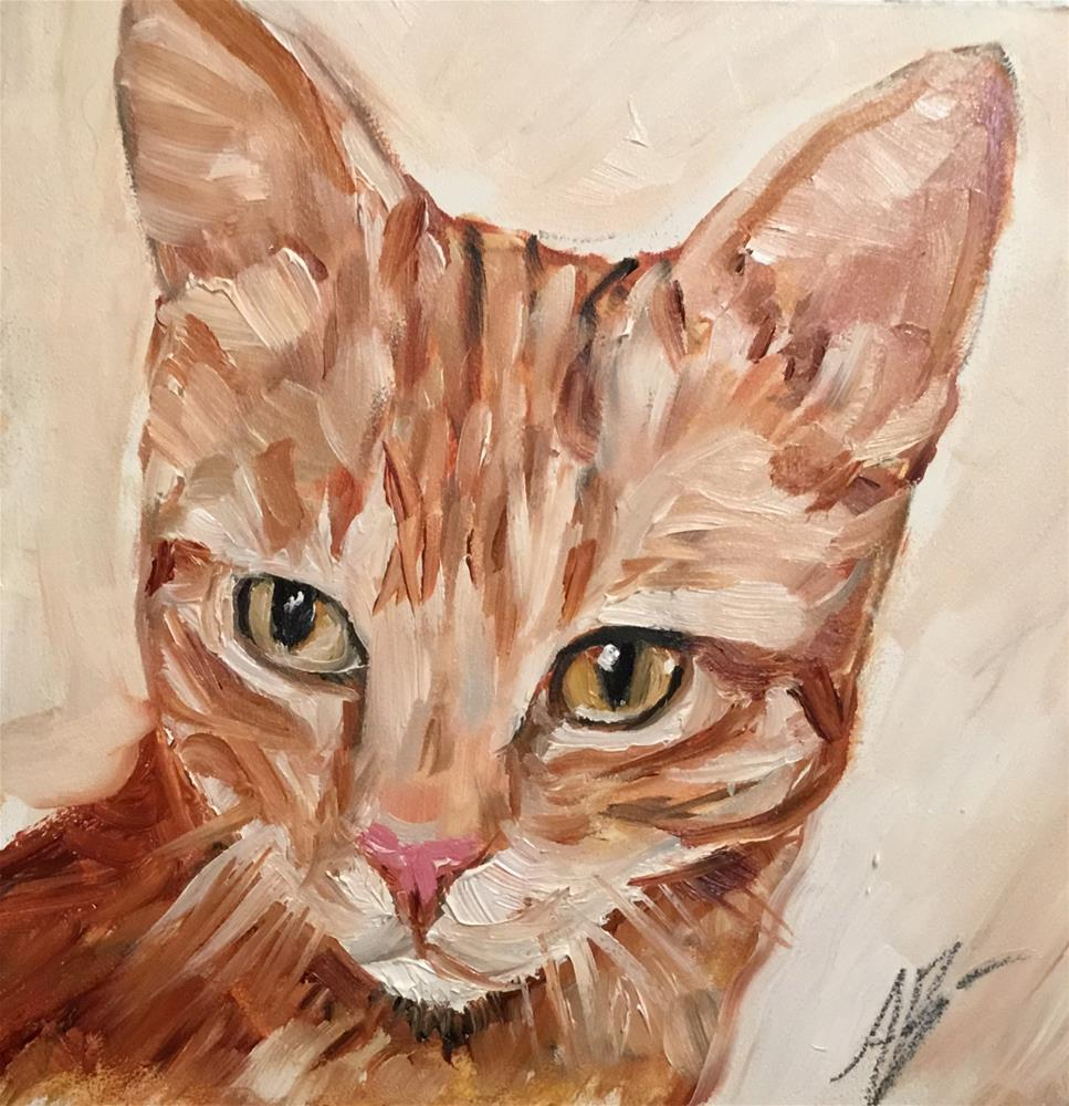 """Portrait of Ralphie"" original fine art by Annette Balesteri"