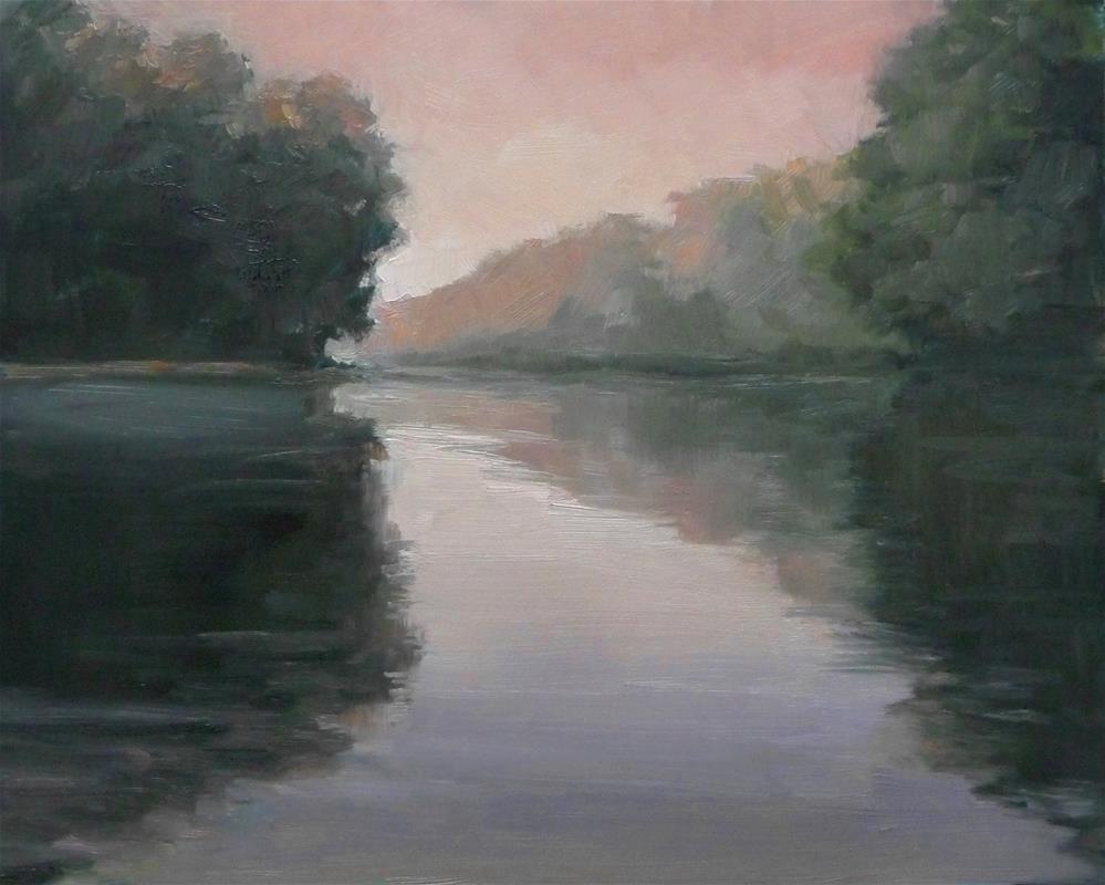 """On the River 1"" original fine art by Lisa Kyle"