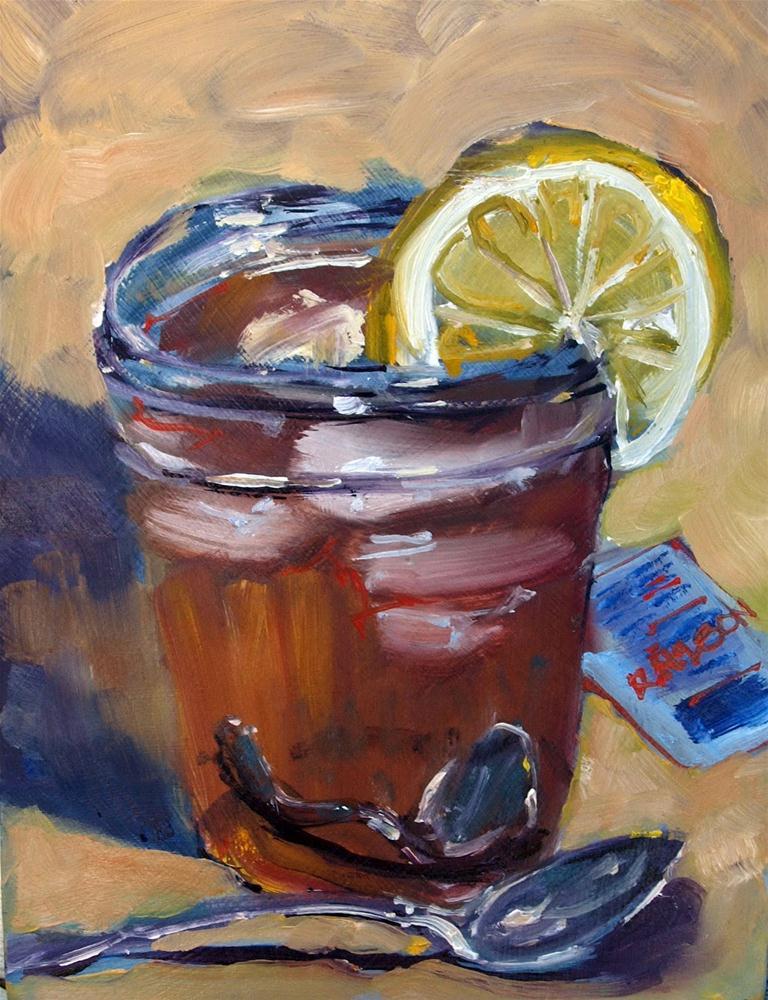 """Ice Tea with Lemon"" original fine art by Rick Nilson"