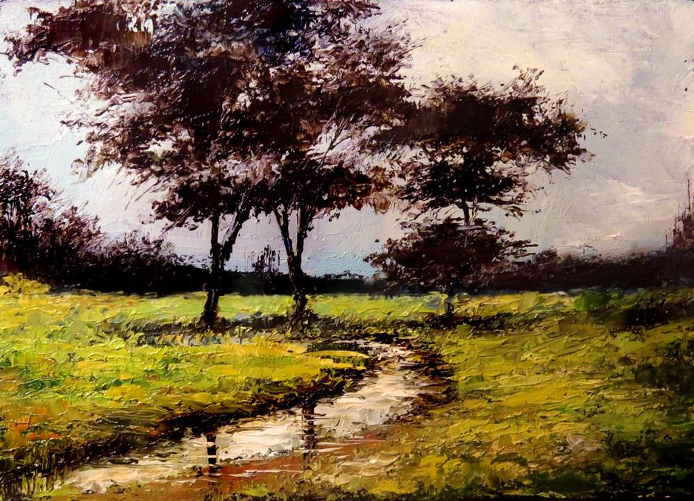 """A Small Stream"" original fine art by Bob Kimball"