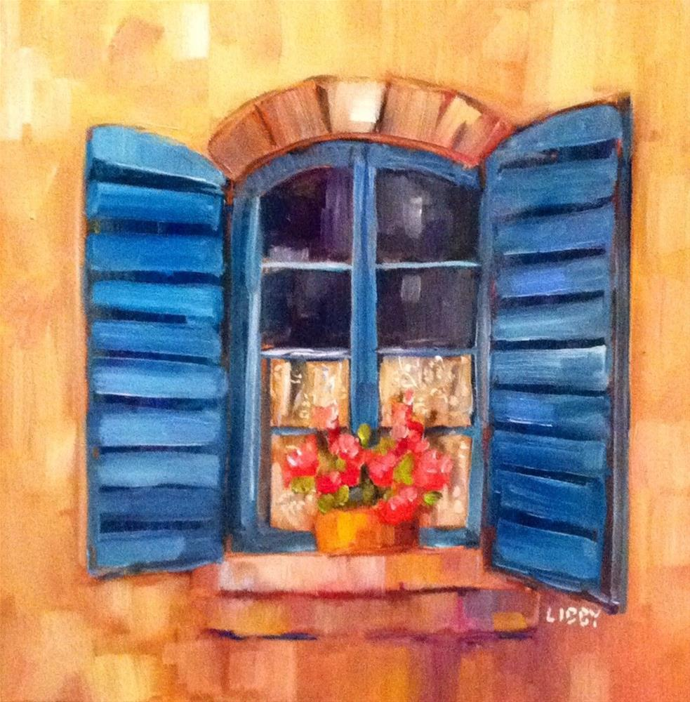 """Lace Curtain"" original fine art by Libby Anderson"
