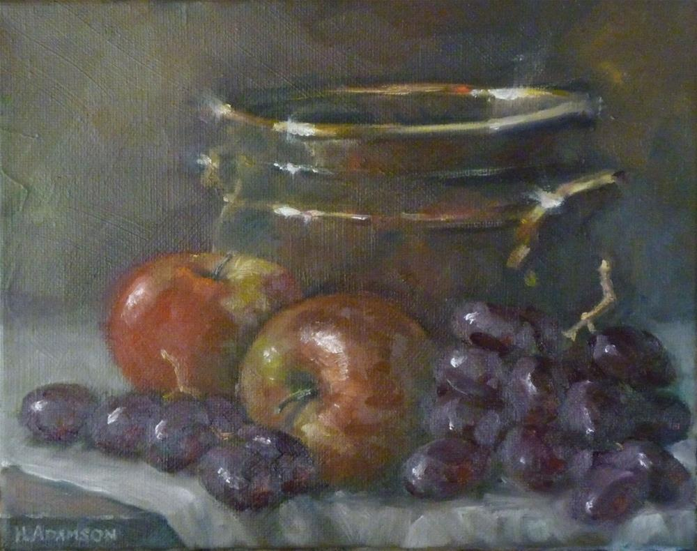 """Fruit and Bowl"" original fine art by Helene Adamson"