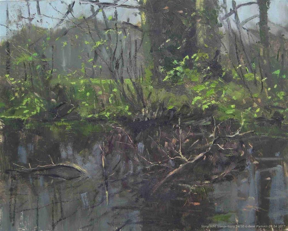 """Moat Slangenburg. Slangenburg, The Nethelands"" original fine art by René PleinAir"