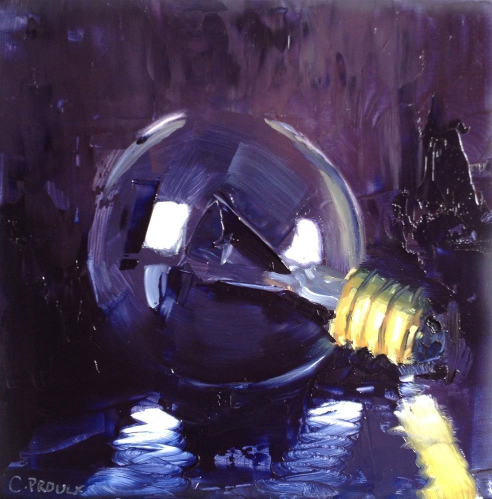 """Burnt Bulb"" original fine art by Cory Proulx"