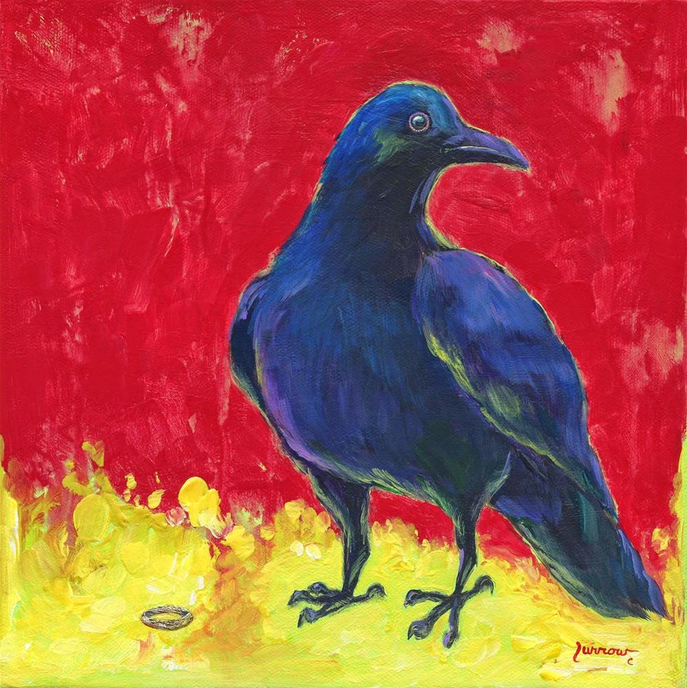 """It's Mine  Raven No. 7"" original fine art by Sue Furrow"