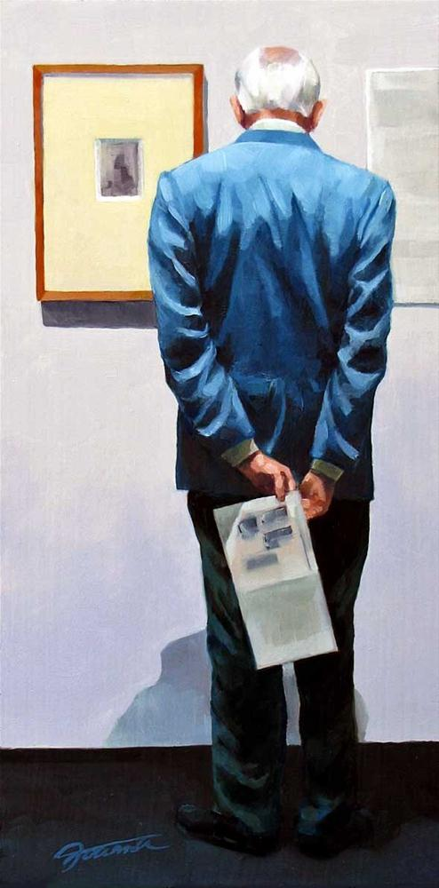 """Detail-Oriented-Painting People in Art Gallery Series"" original fine art by Joanna Bingham"