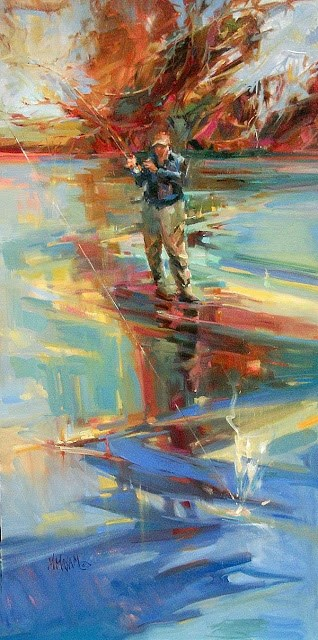 """""""A Good Luck Day -  re-post"""" original fine art by Mary Maxam"""