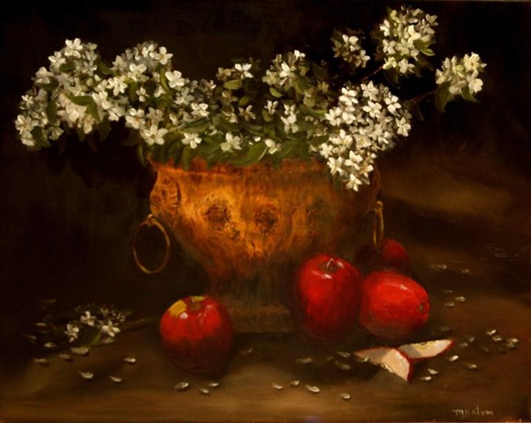 """Apple Blossoms"" original fine art by Mary Datum"