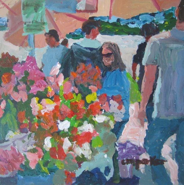 """""""DPW market challenge"""" original fine art by Christine Parker"""