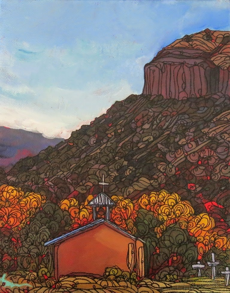 """#99 AUTUMN AT BLACK MESA"" original fine art by Dee Sanchez"