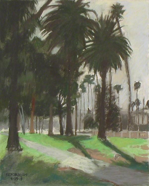 """""""Lincoln Park Palms"""" original fine art by Susan Z. Forbush"""