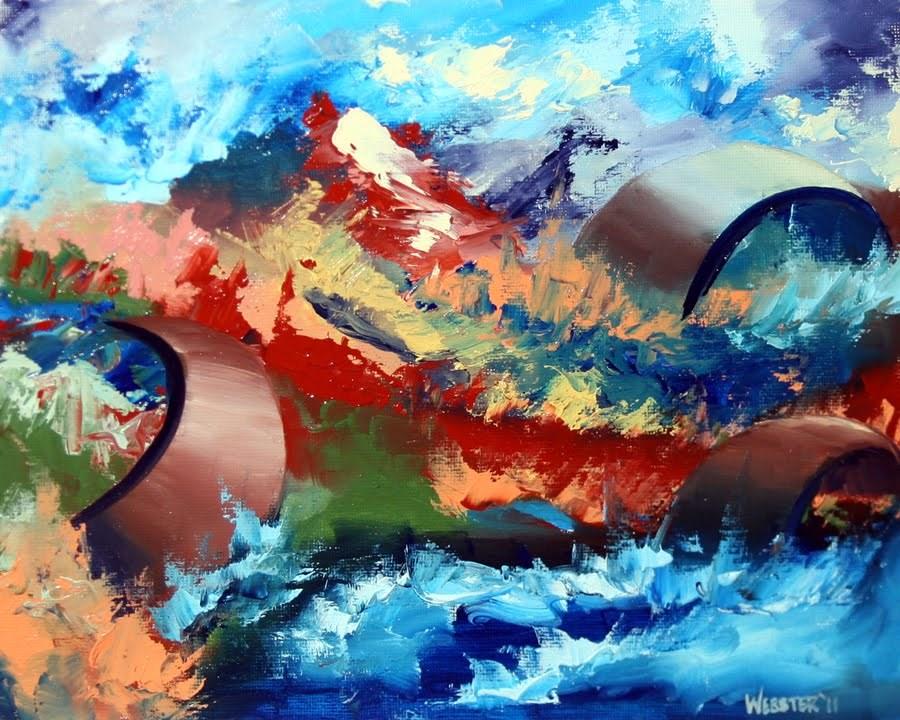 """Mark Webster - Abstraction 9 - Abstract Landscape Oil Painting"" original fine art by Mark Webster"