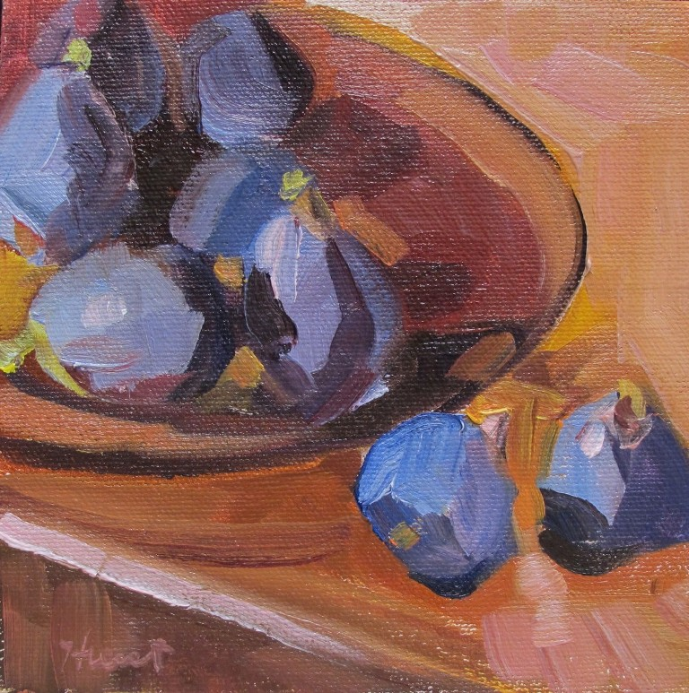 """Sweet Figs"" original fine art by Linda Hunt"