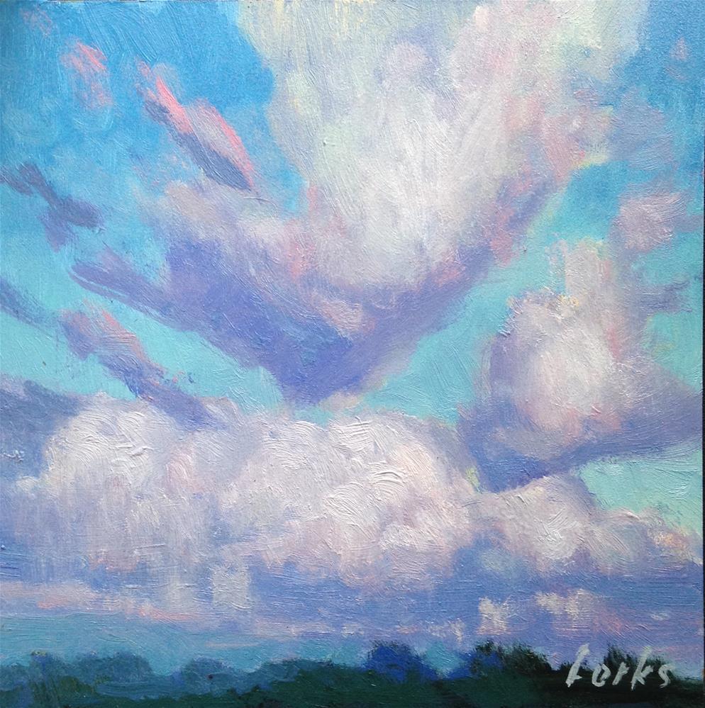 """Harris County Cumulus"" original fine art by David Forks"