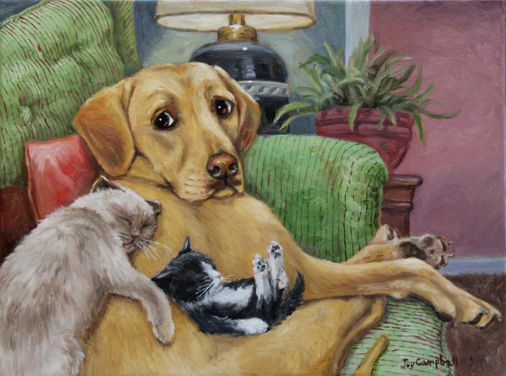 """Caught Kitten Sittin"" original fine art by Joy Campbell"