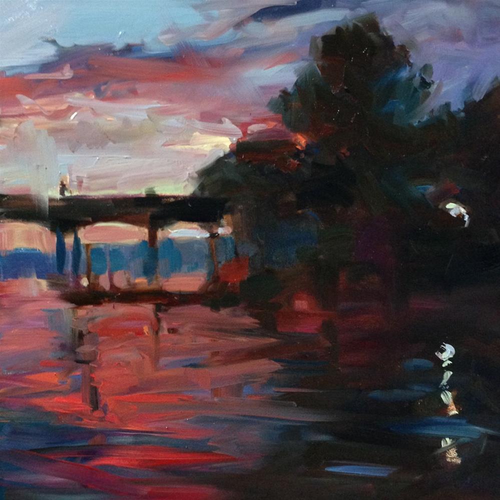 """Holiday Sunset"" original fine art by Patti McNutt"