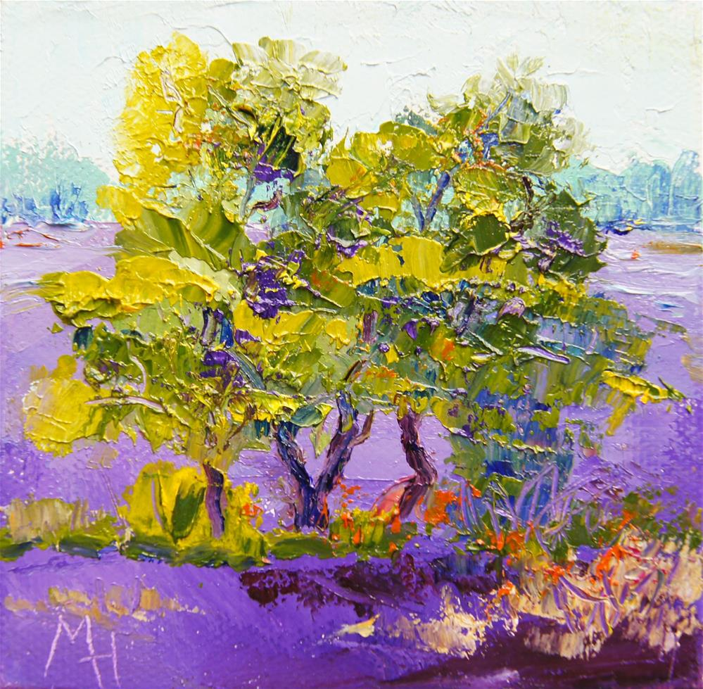 """""""In the middle of the lavender field"""" original fine art by Marion Hedger"""