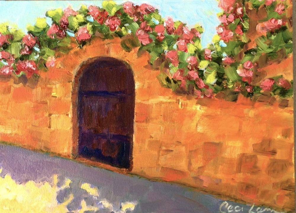 """Rambling Rose, Pujols France"" original fine art by Ceci Lam"