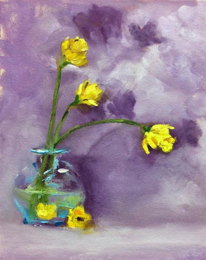 """""""Daffy Daffodils"""" original fine art by Peggy Schumm"""