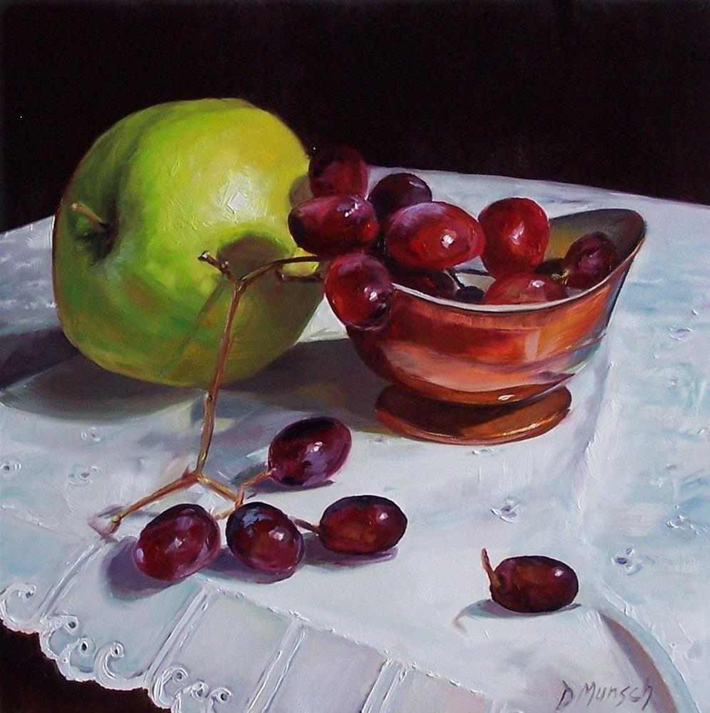 """Copper Bowl with Fruit"" original fine art by Donna Munsch"