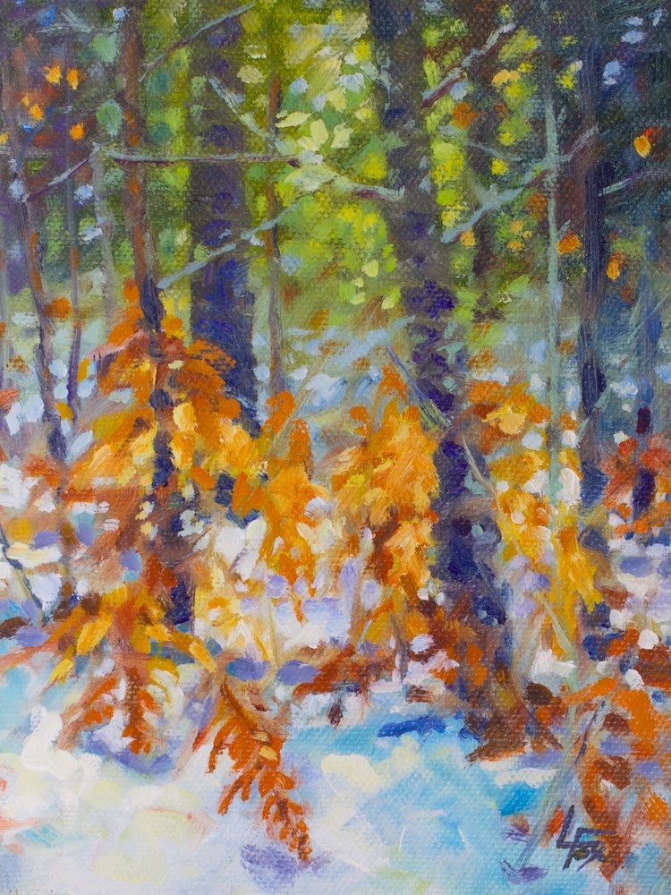 """First Snow Fall"" original fine art by Leona Fox"