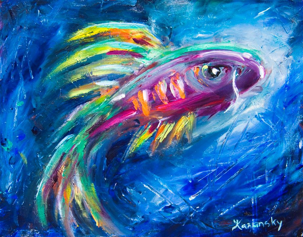"""From the Deep"" original fine art by Yulia Kazansky"