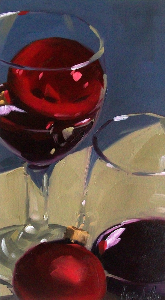 """wino holiday"" original fine art by Brandi Bowman"