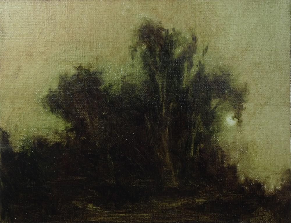 """Moonrise, Eucalyptus Grove"" original fine art by Arena Shawn"