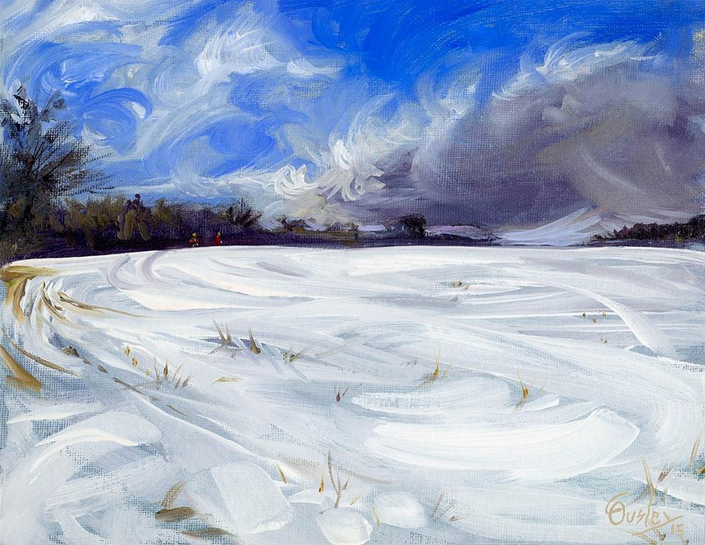 """Snow Field"" original fine art by Chris Ousley"
