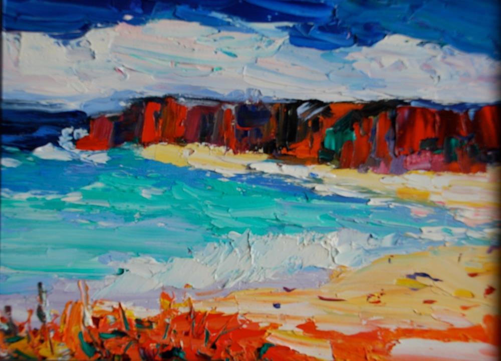 """""""San Diego Cliffs"""" original fine art by Liz Zornes"""
