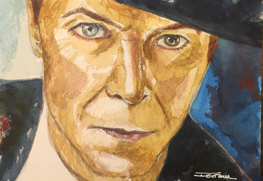 """David Bowie -Absolute Beginners-"" original fine art by Ferran Llagostera"