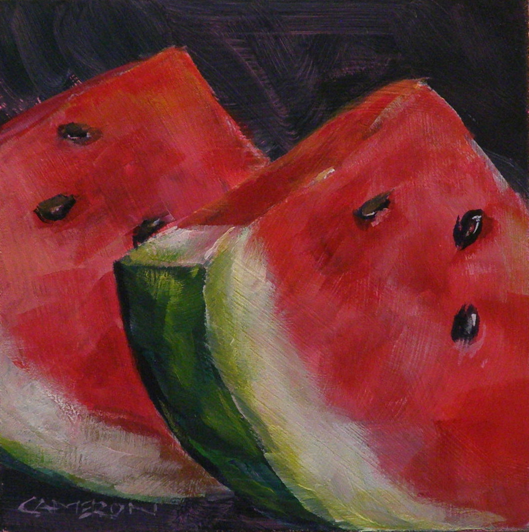 """Watermelon Sliced"" original fine art by Brian Cameron"