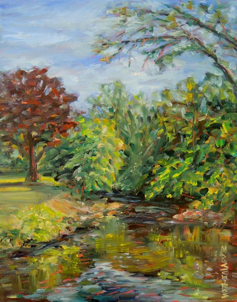"""Fenton Stream"" original fine art by Mary Schiros"