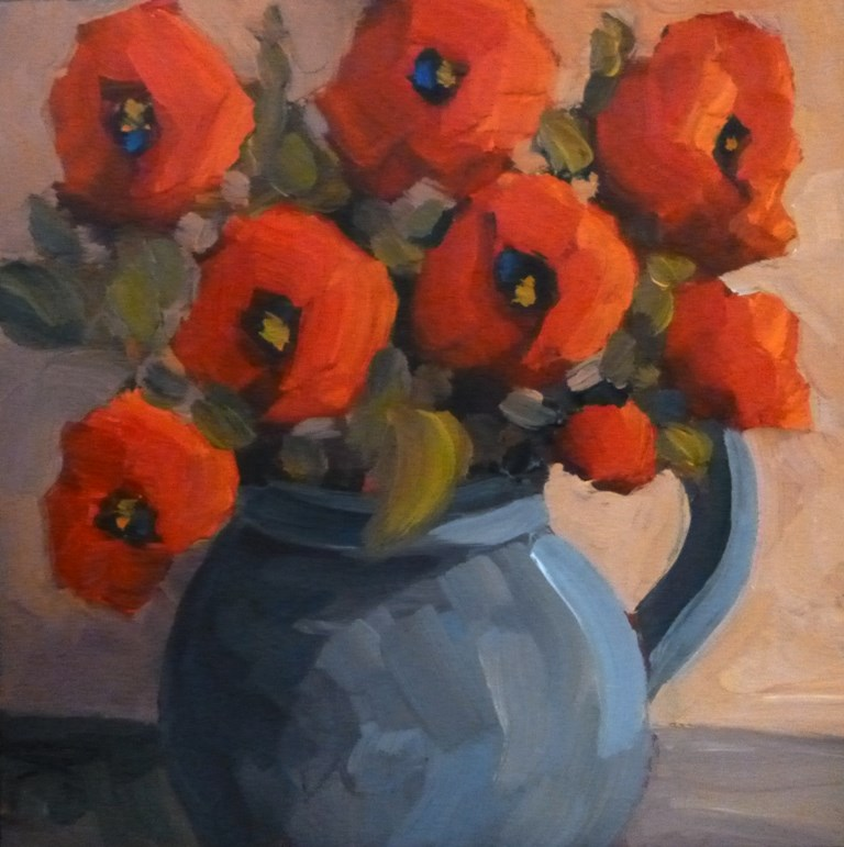 """80 POPPY MEDLEY"" original fine art by Dee Sanchez"