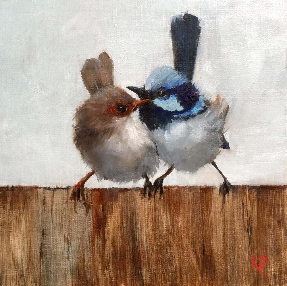 """""""It Takes Two to Tango"""" original fine art by Krista Eaton"""