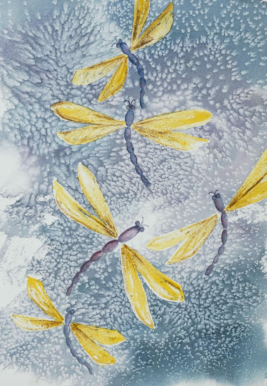 """Dragonfly Fantasy"" original fine art by Michelle Wolfe"