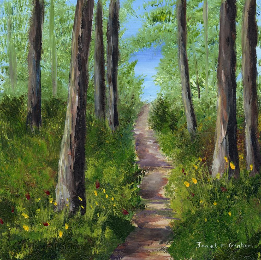 """Woodland Track"" original fine art by Janet Graham"
