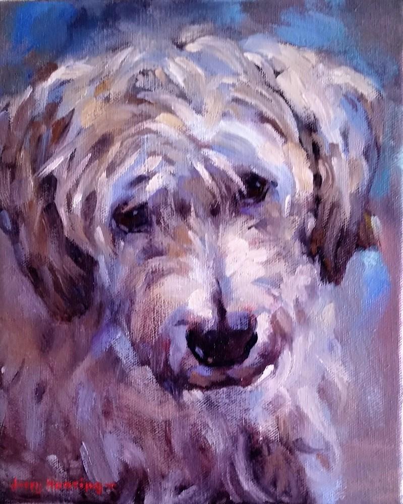 """""""Terrier Mix"""" original fine art by jerry hunsinger"""