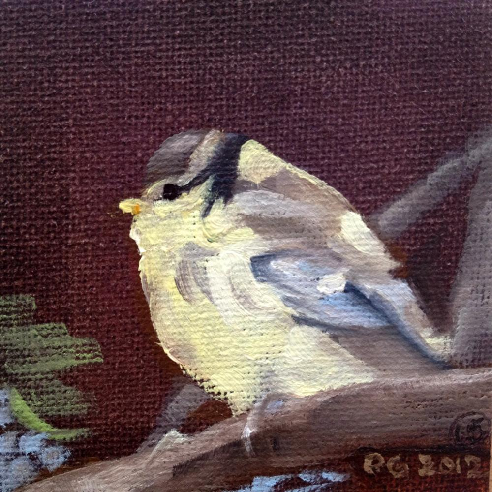 """Baby Blue Tit"" original fine art by Paula Howson-Green"