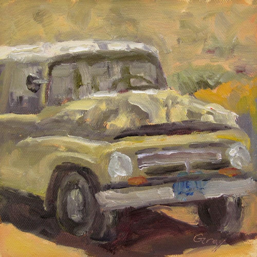 """Antique Van under the Tree"" original fine art by Naomi Gray"