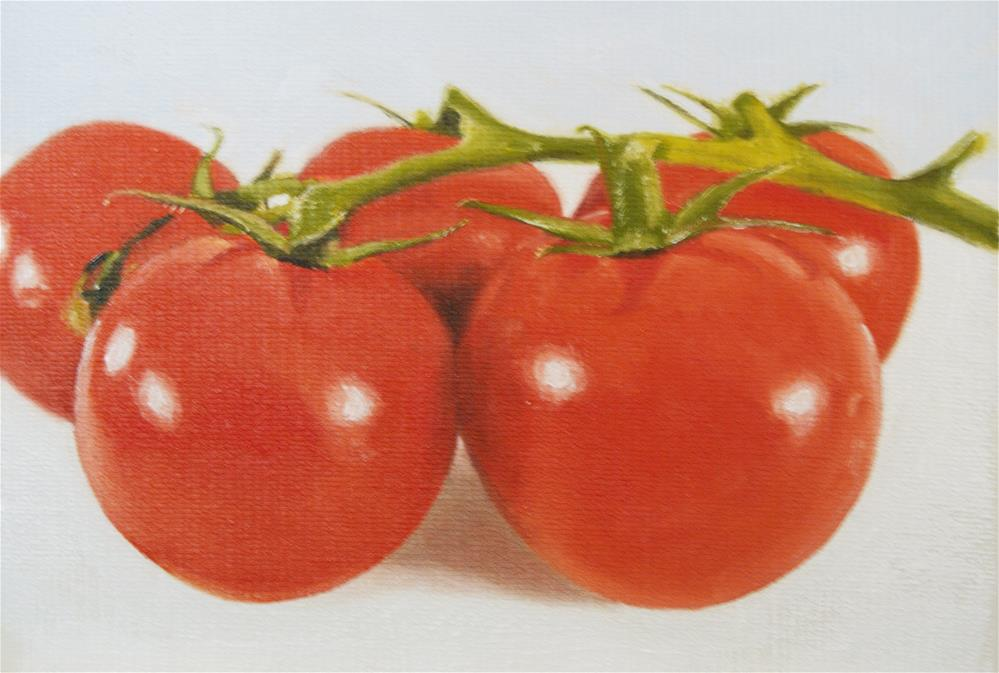 """Sfumato Tomatoes"" original fine art by James Coates"