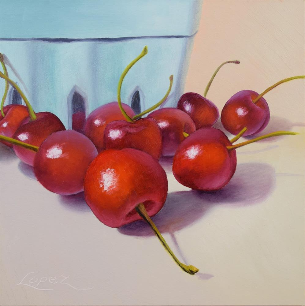"""25. Cherry Season"" original fine art by Gema Lopez"