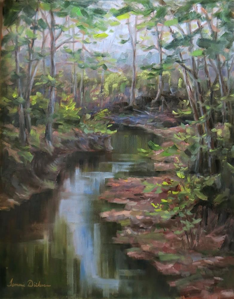 """Winding Creek"" original fine art by Tammie Dickerson"