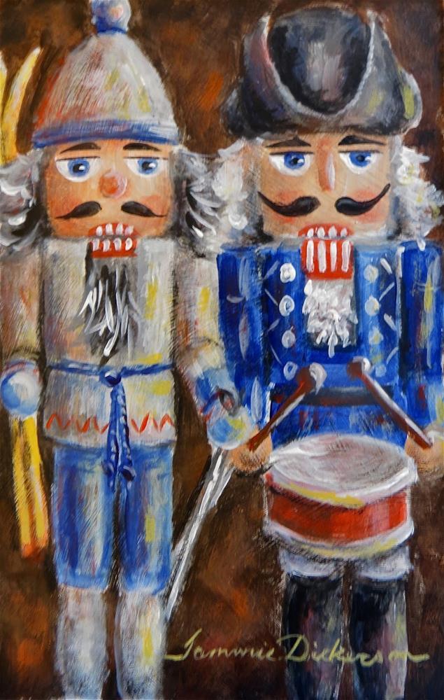 """""""Skier & the Drummer"""" original fine art by Tammie Dickerson"""