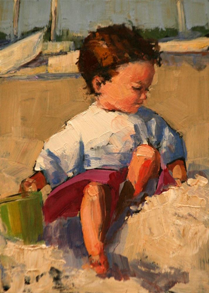 """in a pile"" original fine art by Carol Carmichael"